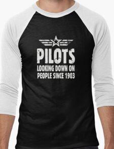 Pilots Looking Down On People Since 1903 Men's Baseball ¾ T-Shirt