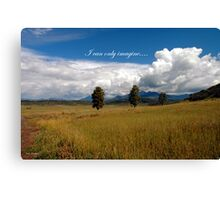 I can only imagine... Canvas Print