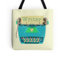 Retro Typewriter for Writers Mid-Century Modern Aqua Blue Tote Bag