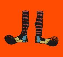 Cool Cute Funny Clown Feet Kids Tee