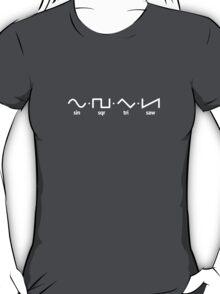 Waveforms (white graphic) T-Shirt