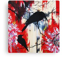 black birds 1 Canvas Print