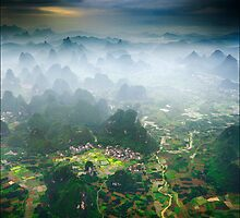 Yangshuo From High by Karl Willson