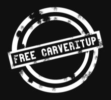 """Free CARVERitUP"" White Stamp by CARVERitUP"