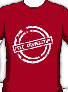 """Free CARVERitUP"" White Stamp T-Shirt"