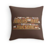 Book Are Awesome Throw Pillow