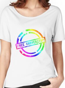 """""""Free CARVERitUP"""" SPECIAL RAINBOW STAMP Women's Relaxed Fit T-Shirt"""