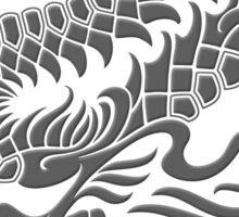 Traditional Dark Chinese Dragon Circle Sticker