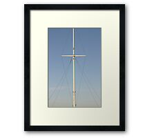 lonely mast Framed Print