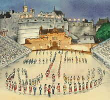 Edinburgh Tattoo by Lynne  M Kirby BA(Hons)