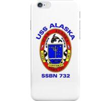 USS Alaska (SSBN-732) Crest iPhone Case/Skin