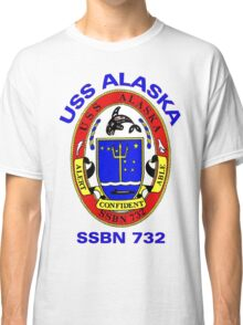 USS Alaska (SSBN-732) Crest Classic T-Shirt