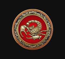 Treasure Trove - Sacred Golden Scorpion on Black Unisex T-Shirt