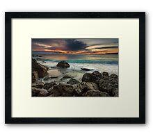 Bowentown Backlit Wave Framed Print