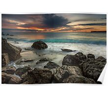 Bowentown Backlit Wave Poster