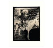 "1908 Photo of Francisco ""Pancho"" Villa on Horseback Art Print"