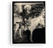 "1908 Photo of Francisco ""Pancho"" Villa on Horseback Canvas Print"