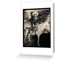 "1908 Photo of Francisco ""Pancho"" Villa on Horseback Greeting Card"