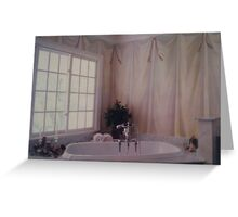 Bathroom mural Greeting Card