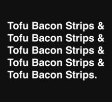 Tofu Bacon Strips (white) by AdrienneOrpheus