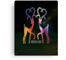 Deers In Love - 01 Canvas Print