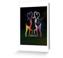 Deers In Love - 01 Greeting Card