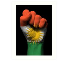 Flag of Kurdistan on a Raised Clenched Fist  Art Print