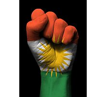Flag of Kurdistan on a Raised Clenched Fist  Photographic Print