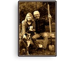 My Parents & Sobe Canvas Print
