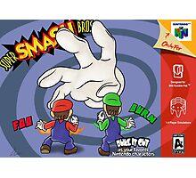 Super Smash Bros Mario and Luigi Photographic Print