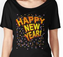 Happy New Year in Festive Colors Women's Relaxed Fit T-Shirt