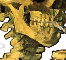 """Vincent Van Gogh - """"Skull of a Skeleton with Burning Cigarette"""" Sticker"""