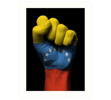 Flag of Venezuela on a Raised Clenched Fist  Art Print