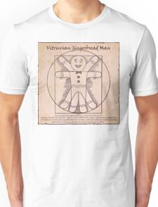 Vitruvian Gingerbread Man Unisex T-Shirt
