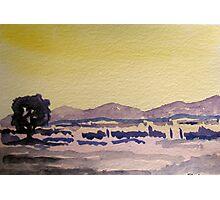 Yellow Landscape  Photographic Print