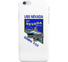 USS Nevada (SSBN-733) Crest iPhone Case/Skin
