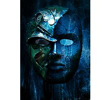 Steampunk half mask Photographic Print