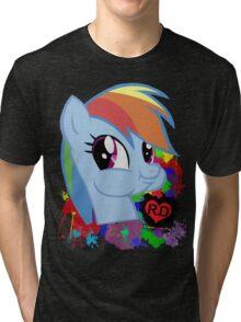 Rainbow Dash Splatter Heart Tri-blend T-Shirt