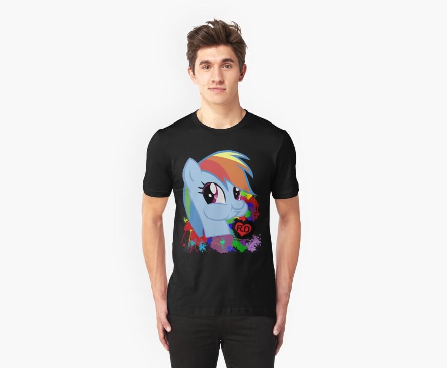 Rainbow Dash Splatter Heart by RainRed