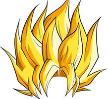 Dragon Ball Z Goku Super Saiyan Hair by Alex Decimelli