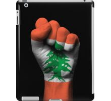 Flag of Lebanon on a Raised Clenched Fist  iPad Case/Skin