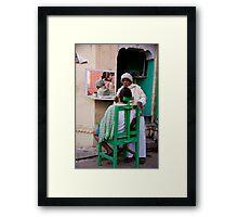 Barbering Framed Print
