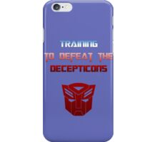 Training to Defeat the Decepticons iPhone Case/Skin