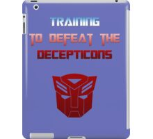 Training to Defeat the Decepticons iPad Case/Skin