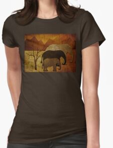 Elephant Family Womens Fitted T-Shirt
