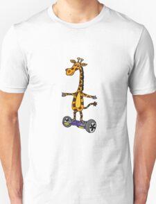 Funny Giraffe on Motorized Segway Skateboard T-Shirt