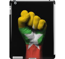 Flag of Myanmar on a Raised Clenched Fist  iPad Case/Skin