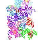 Colorful leaves pattern by nadil