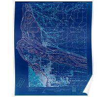 USGS Topo Map Oregon OR Portland 282795 1905 62500 Inverted Poster