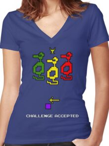 Atari Adventure Challenge Accepted TeeShirt Women's Fitted V-Neck T-Shirt
